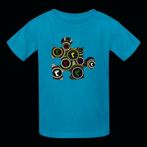 Dot painting puzzle - Kids' T-Shirt