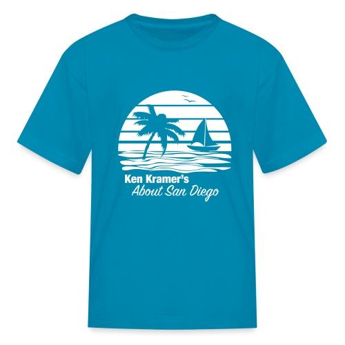Ken's Awesome Monochrome Logo - Kids' T-Shirt