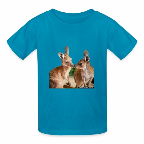 2 kangaroos kissing - Kids' T-Shirt