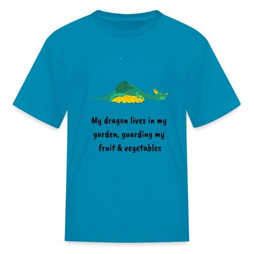 My dragon lives in my garden - Kids' T-Shirt