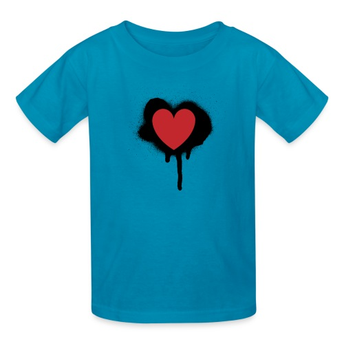 painted heart valentines day design - Kids' T-Shirt