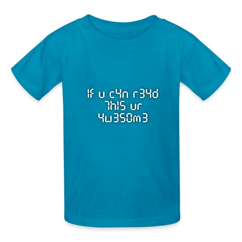 If you can read this, you're awesome - white - Kids' T-Shirt