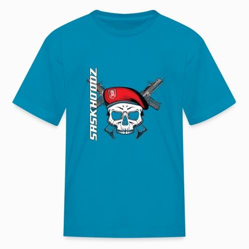 saskhoodz skull - Kids' T-Shirt