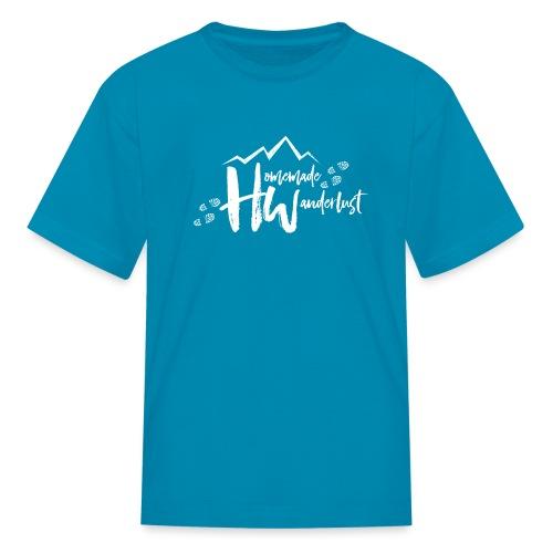 White HW Logo - Kids' T-Shirt