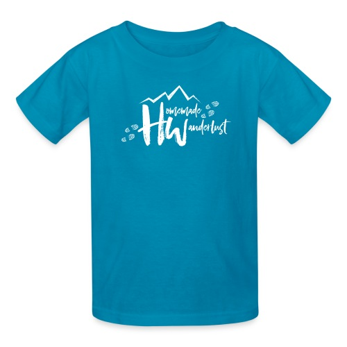 White HW Logo - Kids' T-Shirt