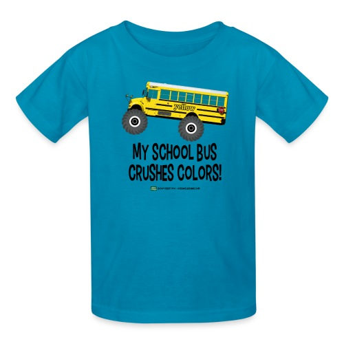 Monster_Schoolbus_Crushes - Kids' T-Shirt