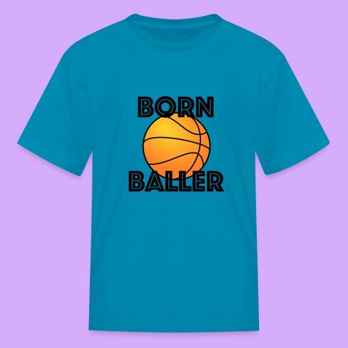 bornballerblack png - Kids' T-Shirt