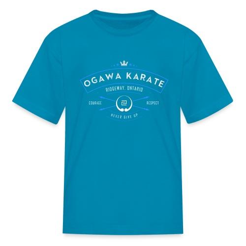 Vintage Ogawa Karate Logo Design - Kids' T-Shirt