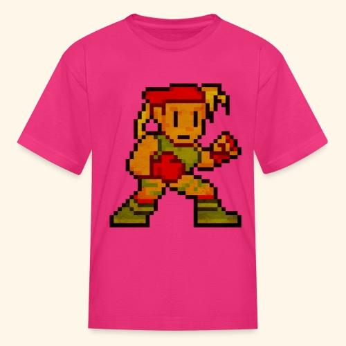Pixelfighter ArmyGirl (Vintage Print) - Kids' T-Shirt