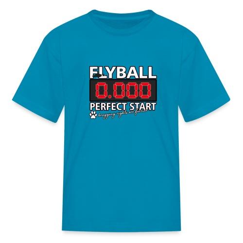 perfect start flyball - Kids' T-Shirt