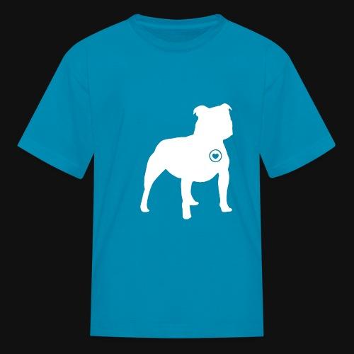 Staffy love - Kids' T-Shirt