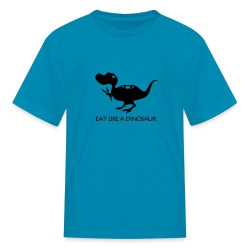 eatlikeadinowhiteshirt2 - Kids' T-Shirt