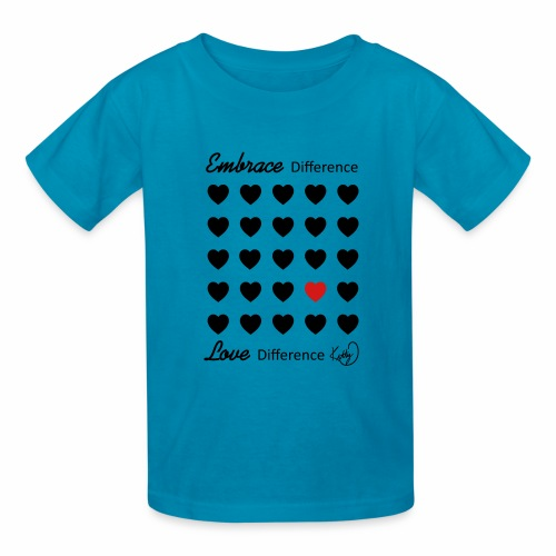 Embrace Difference, Love Difference - Kids' T-Shirt