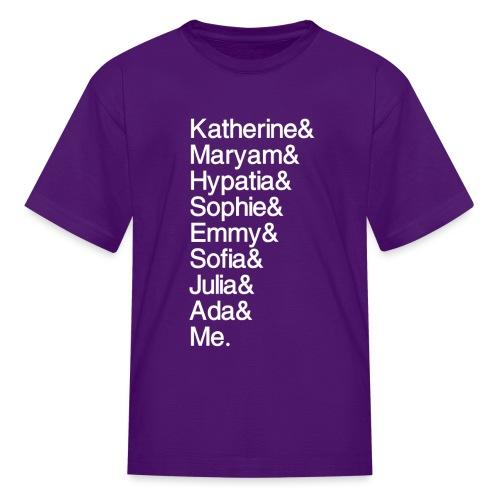 Women in Math & Me (at bottom) - Kids' T-Shirt