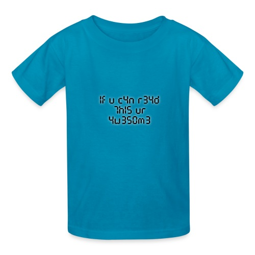 If you can read this, you're awesome - black - Kids' T-Shirt