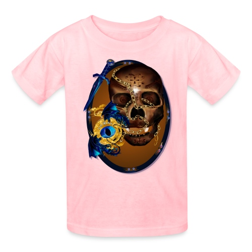 Oval-Dark Skull with Evil - Kids' T-Shirt