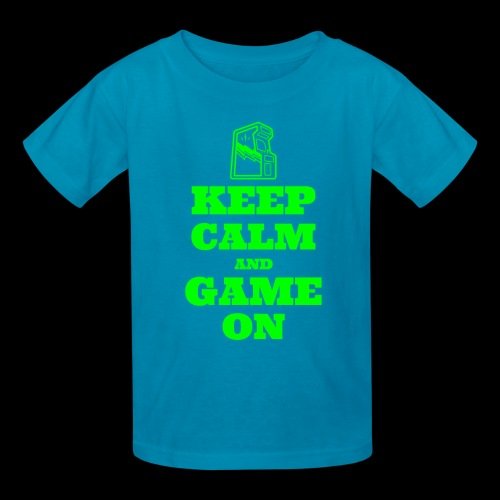 Keep Calm and Game On | Retro Gamer Arcade - Kids' T-Shirt