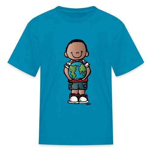 boy c melonheadz 13 colored png - Kids' T-Shirt