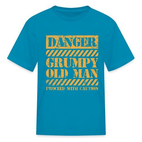 Danger Grumpy Old Man Sarcastic Saying - Kids' T-Shirt