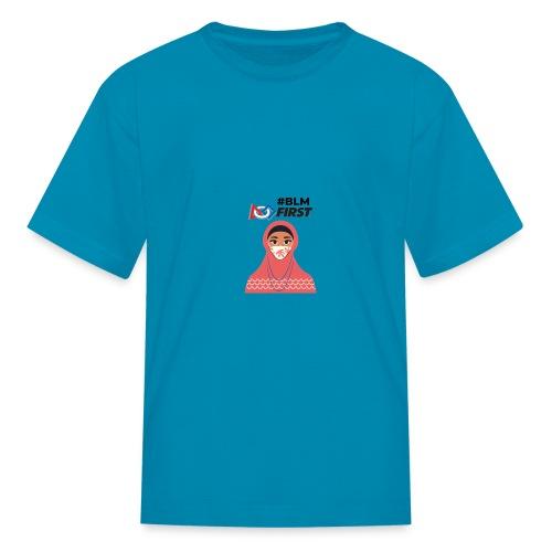 #BLM FIRST Muslim Woman BLM Supporter - Kids' T-Shirt