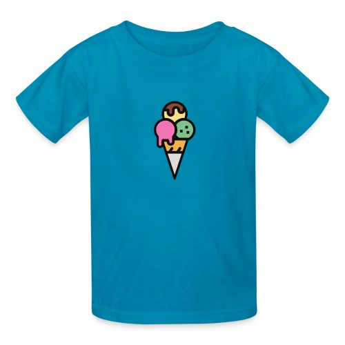 Triple Scoop Cone - Kids' T-Shirt