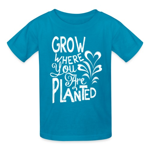 Grow where you are planted - Kids' T-Shirt