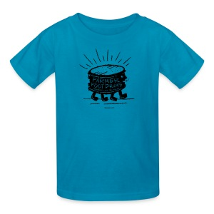 Farmer Foot Drums - Kids' T-Shirt