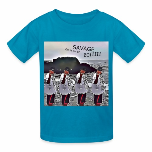The Savage Boi Cam on the Beach - Kids' T-Shirt
