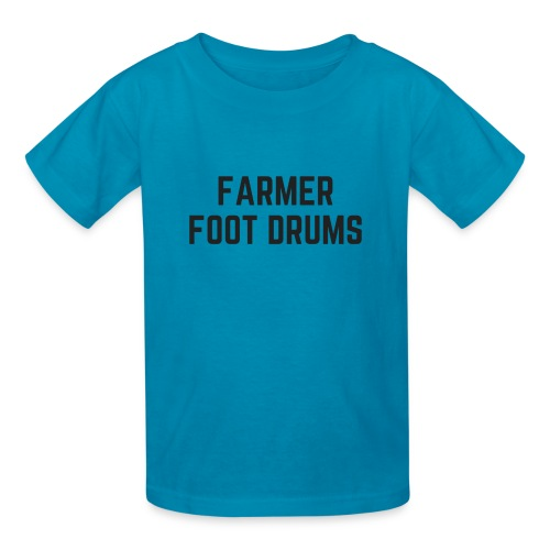 Farmer Foot Drums All Caps - Kids' T-Shirt