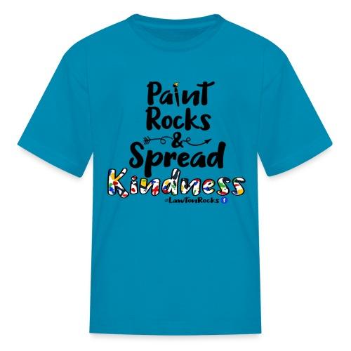 Paint Rocks, Spread Kindness_LawtonRocks - Kids' T-Shirt