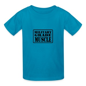 Military Grade Muscle Black - Kids' T-Shirt