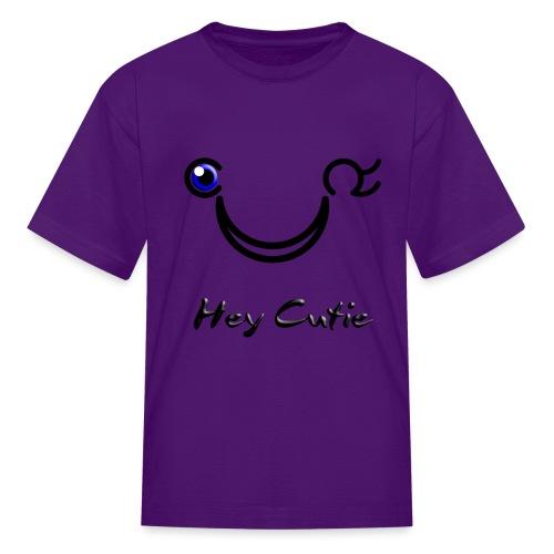 Hey Cutie Blue Eye Wink - Kids' T-Shirt