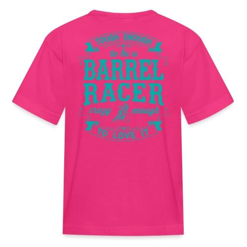 Barrel racer turquoise - Kids' T-Shirt