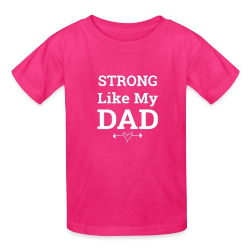 Strong like Dad white - Kids' T-Shirt