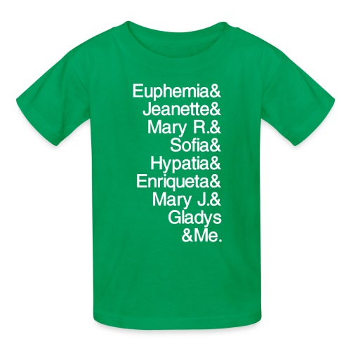 Math Gals 1sts &Me with #MathGals hashtag - Kids' T-Shirt
