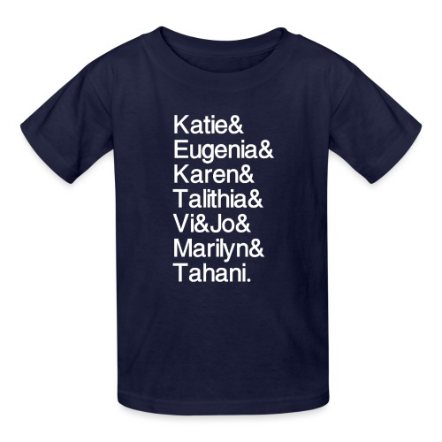Math Gals 2019 w/ #MathGals hashtag - Kids' T-Shirt