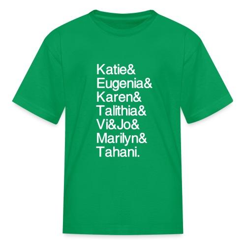 Math Gals 2019 w/ #MathGals hashtag - Kids' T-Shirt