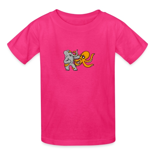 Elephant vs. Octopus T-Shirt - Kids' T-Shirt