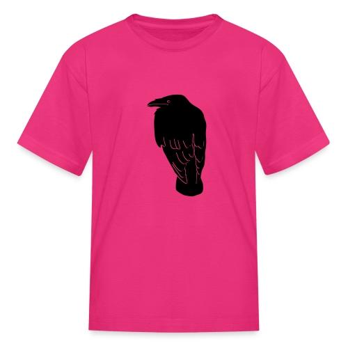 raven crow gothic bird wings dark fly - Kids' T-Shirt