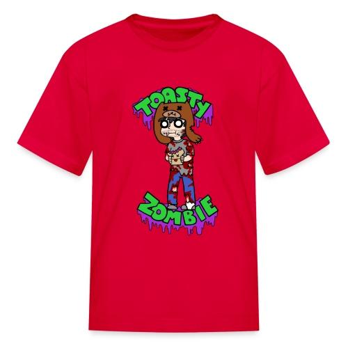 TshirtContestDesign ToastyZombie finish png - Kids' T-Shirt