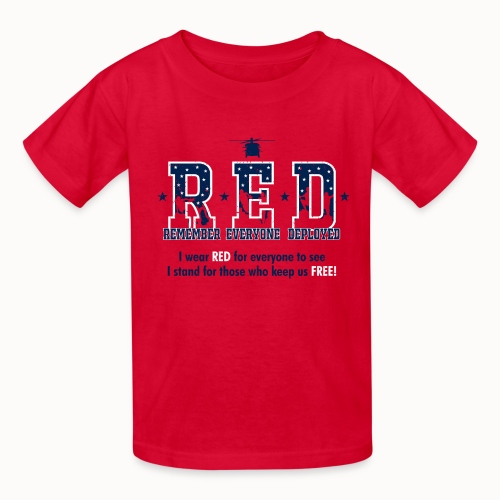 RED Friday - I Stand For Those Who Keep Us FREE! - Kids' T-Shirt