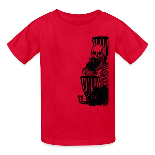 Disc Golf Until Death Black Print Skeleton Shirt - Kids' T-Shirt