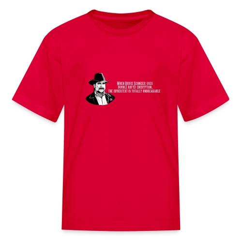 Bruce Schneier Fact #15 - Kids' T-Shirt