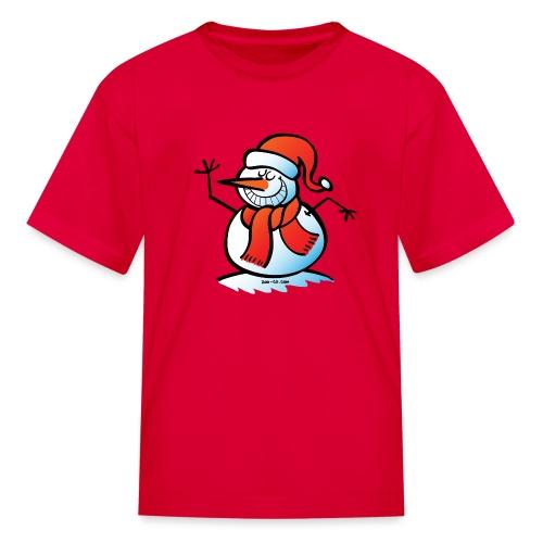 Grinning Snowman - Kids' T-Shirt