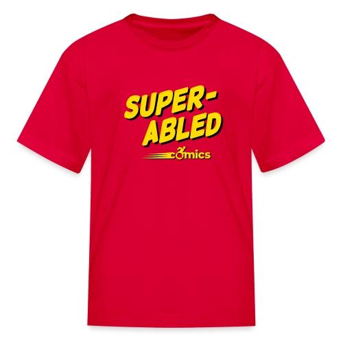 Super-Abled Comics - yellow/black - Kids' T-Shirt
