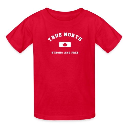 True North Strong and Free - Kids' T-Shirt
