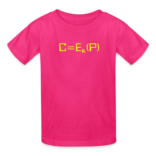 Ciphertext equals encrypted plaintext - Kids' T-Shirt