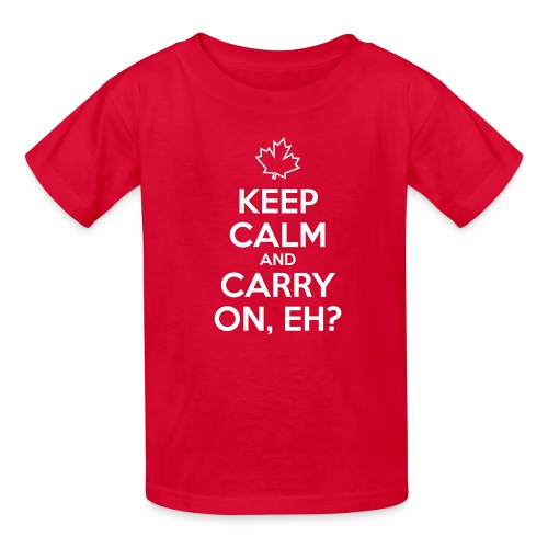 Keep Calm and Carry On Eh - Kids' T-Shirt