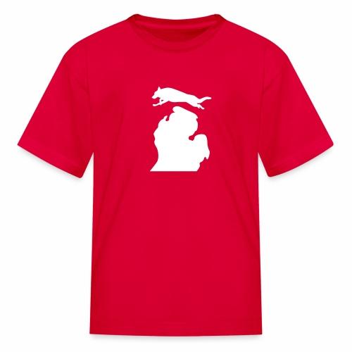 German Shepherd Michigan womens shirt - Kids' T-Shirt
