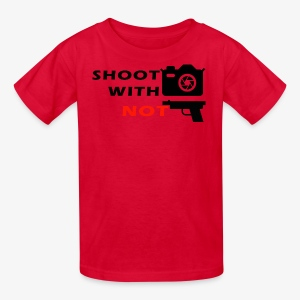Shoot With Camera Not Guns - Kids' T-Shirt